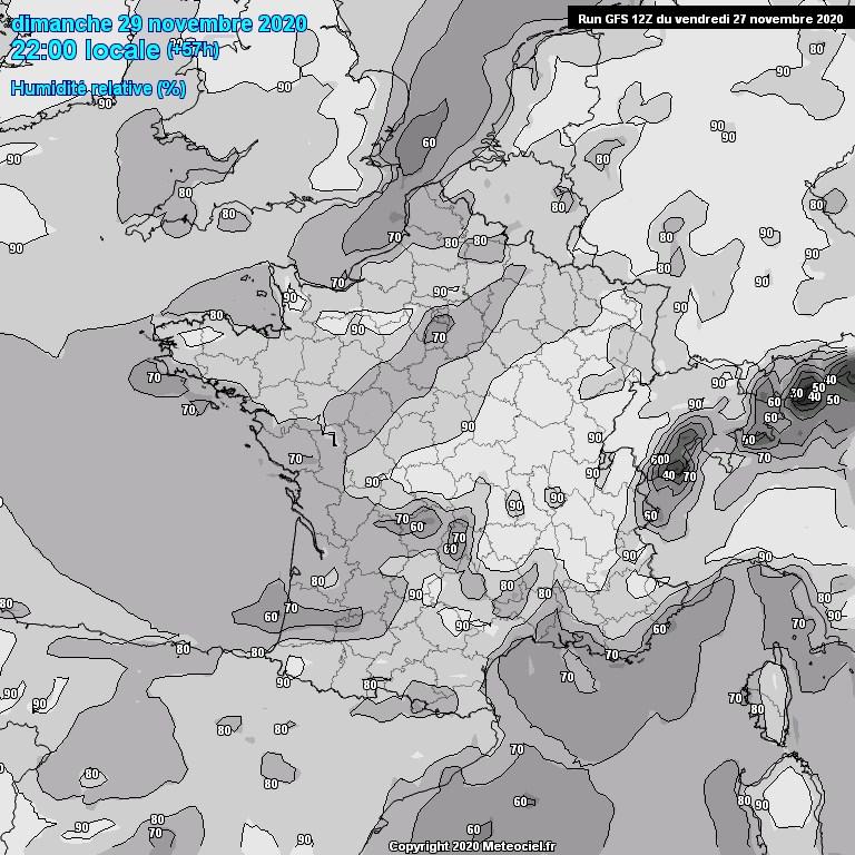 Modele GFS - Carte prévisions